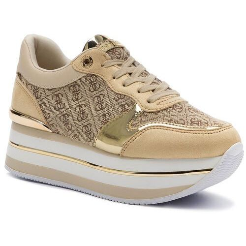 Sneakersy - hinders2 fl7hn2 fal12 beige/brown, Guess, 35-41