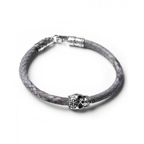 ​Gray python with skull L