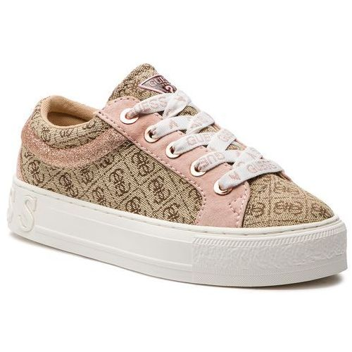 Sneakersy - fl5ly2 fal12 beige/brown, Guess, 40-41