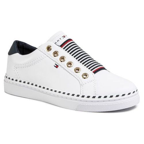 Tommy hilfiger Sneakersy - tommy elastic cty sneaker fw0fw04783 white ybs
