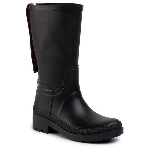 Kalosze TOMMY HILFIGER - Elevated Th Hardware Rainboot FW0FW04583 Black BDS, w 5 rozmiarach