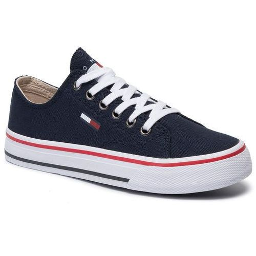 Tommy jeans Tenisówki - low cut tommy jeans sneaker en0en00681 midnight cki