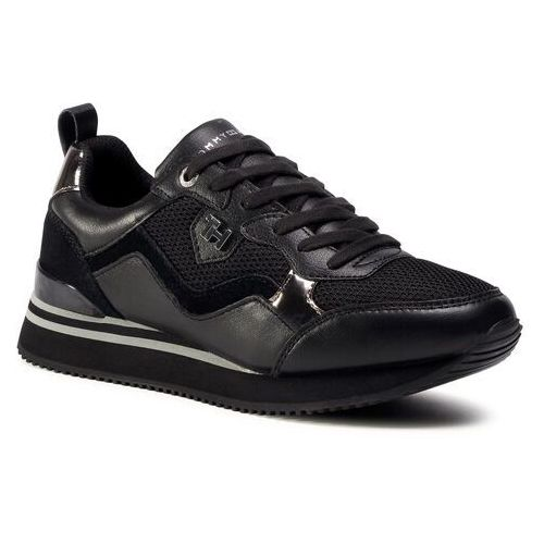 Sneakersy TOMMY HILFIGER - Feminine Active City Sneaker FW0FW05010 Black BDS