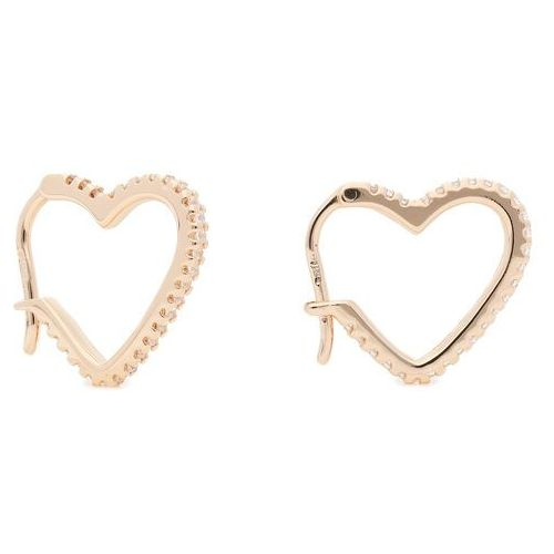 Michael kors Kolczyki - sm pave heart hoop mkc1336an791 rose gold clear