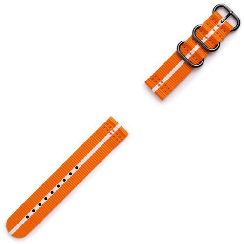 Samsung Gear Sport Premium Nato Strap GP-R600BREECAG Orange-white (7613119112576)
