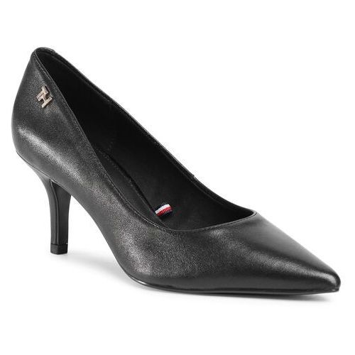 Szpilki TOMMY HILFIGER - Essential Leather Mid Heel Pump FW0FW05247 Black BDS
