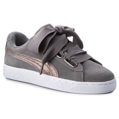Sneakersy PUMA - Suede Heart LunaLux Wn's 366114 01 Smoked Pearl, kolor szary