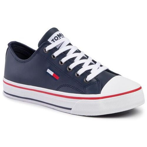 Trampki - leather city sneaker en0en00746 black iris cbk, Tommy hilfiger, 36-42