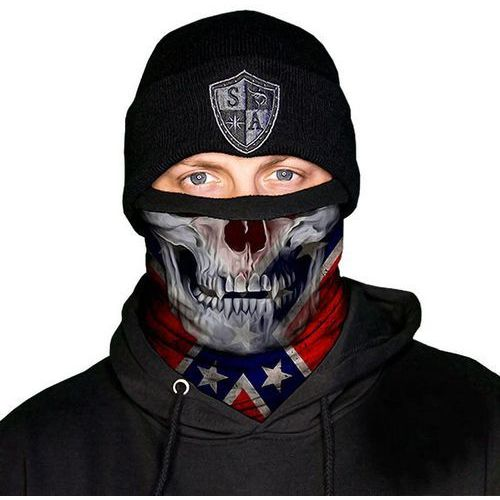 SA Co. Chusta Wielofunkcyjna Frost Tech™ Face Shield™ Rebel Skull - Rebel Skull