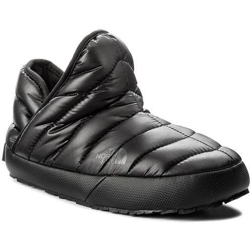 Kapcie - thermoball traction bootie t933ihywy-050 shiny tnf black/beluga grey marki The north face