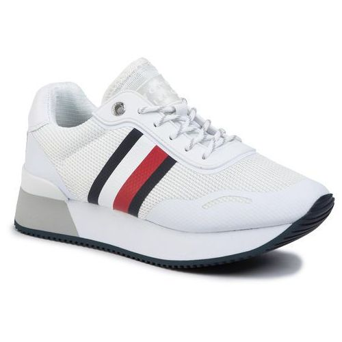 Tommy hilfiger Sneakersy - mesh city sneaker fw0fw04606 white ybs