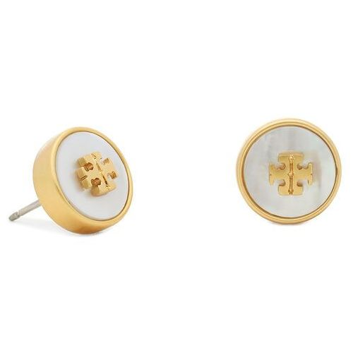 Kolczyk TORY BURCH - Kira Semiprecious Circle 74073 Rolled Brass/Mother Of Pearl 100