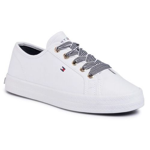 Sneakersy TOMMY HILFIGER - Essential Nautical Sneaker FW0FW04848 White YBS, sneakersy