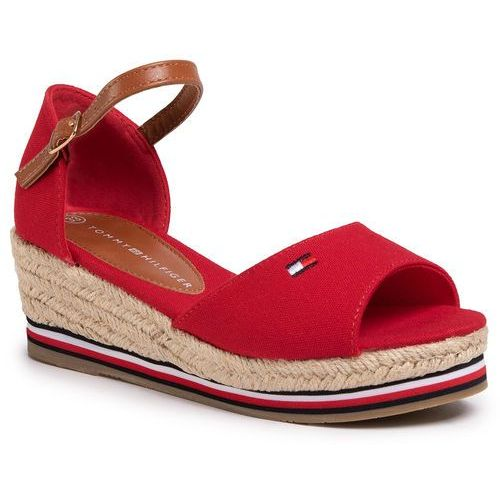 Tommy hilfiger Espadryle - rope wedge sandal t3a2-30658-0048 red 300