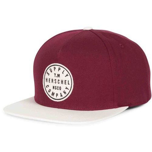czapka z daszkiem HERSCHEL - TM Windsor Wine/Natural (0091)