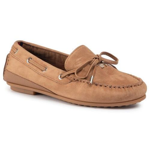 Tommy hilfiger Mokasyny - elevated th hardware moccasin fw0fw04588 tobacco brown ge4