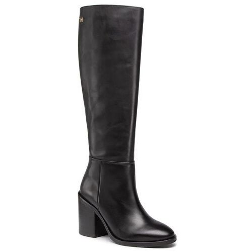 Kozaki TOMMY HILFIGER - Shaded Leather Long Boot FW0FW05174 Black BDS